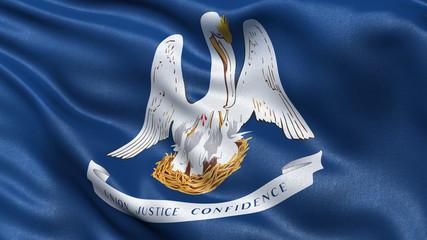 US state flag of Louisiana