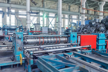 machine for slitting steel sheet