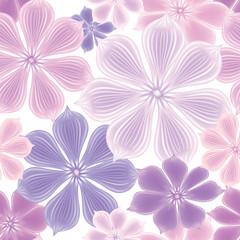 Floral seamless background. Decorative flower pattern. Flourish spring texture
