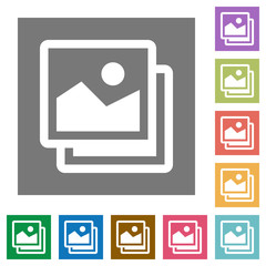 Images square flat icons