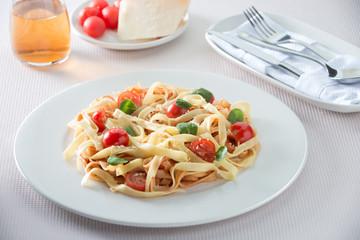 italian spaghetti with tomatos