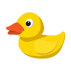 Yellow duck for bath cartoon icon