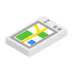 GPS phone 3d isometric icon