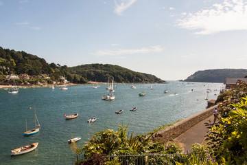 Photograph of Salcombe Harbour looking towards the Bar