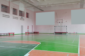 Interior of a hall for sport games