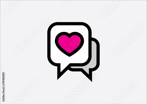 dating/chat app symbols