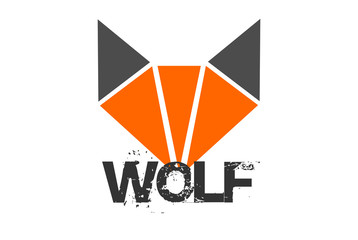 wolf polygon logo icon