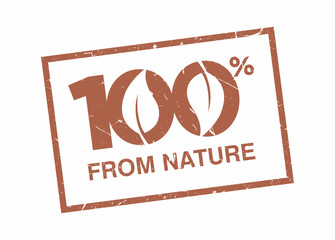 100% From Nature Rubber Stamp