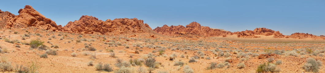 Desert and Red rock Formations in Red Rock Canyon near Las Vegas