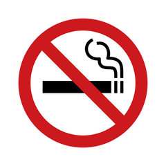 No smoking sign / symbol flat icon for websites and print