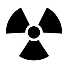 Radioactive / radiation symbol flat icon for websites print