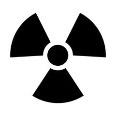 Radioactive / radiation symbol flat icon for websites print