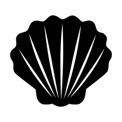 Seashell / shellfish flat icon for apps and websites