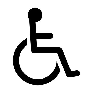 Wheelchair / handicapped access sign or symbol flat icon for websites and print