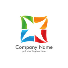 Elegant Box Line Logo Icon