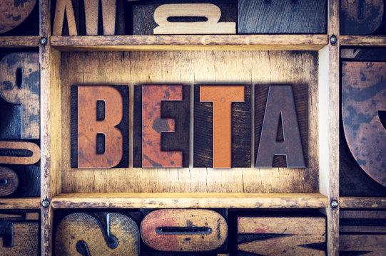 Beta Concept Letterpress Type