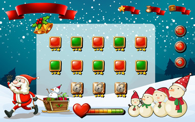 Game template with Santa and snowman