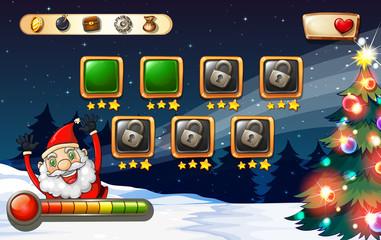 Game template with Santa on christmas eve