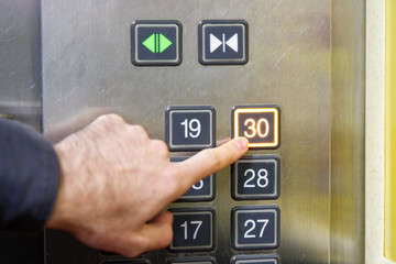 30 (thirty) floor elevator button with light and pushing finger