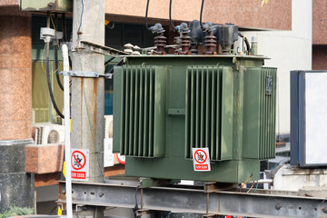 High voltage transformer on the street
