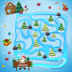 Game template with christmas trees