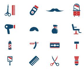 Barbershop simply icons