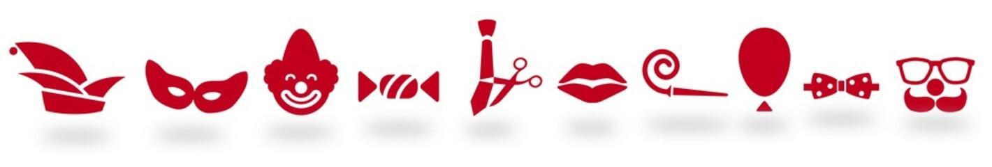 Karneval Piktogramme - Banner