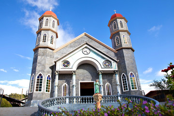 The colorful catholic church of Zarcero, Costa Rica