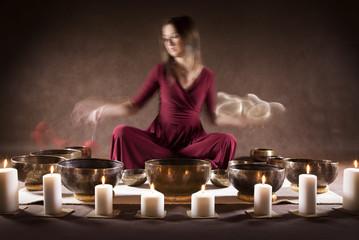 Meditation with Tibetan singing bowls