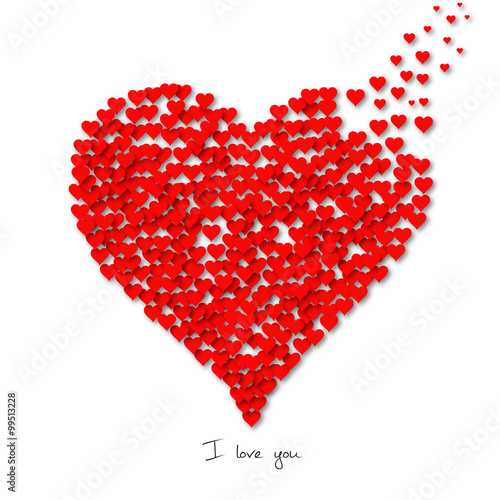 Großartig I Love You   Valentineu0027s Day Heart Shaped Greeting Card   Joyeuse St  Valentin