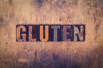 Gluten Concept Wooden Letterpress Type