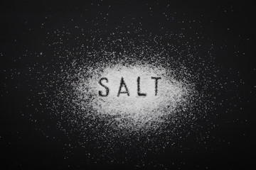 white salt Wall mural