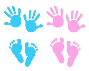 Baby foot prints with heart baby shower greeting card