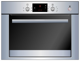 Electric oven. Vector