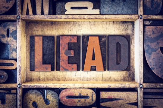Lead Concept Letterpress Type