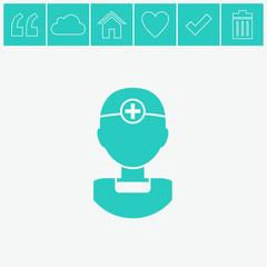 Doctor vector icon.