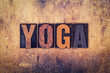 Yoga Concept Wooden Letterpress Type