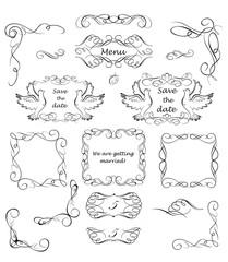 Vintage design for wedding invitations