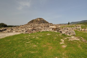 Su Nuraxi archaeological site in Barumini, Sardinia