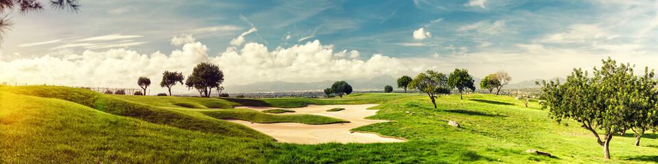 Poster Golf golf field landscape