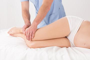 Woman's legs massage
