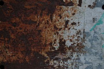 Immagine di lamiera arrugginita come sfondo