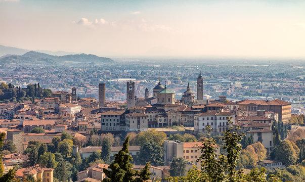 Bergamo in the fall