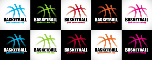 logo basket design sobre