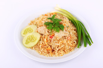 Thai Style Fried rice with pork in Bangkok, Thailand