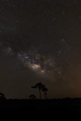 The Milky Way at Phu Hin Rong Kla National Park,Phitsanulok Thai