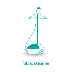 Electric fabric steamer icon. Isolated on white background. Illustration in flat style.