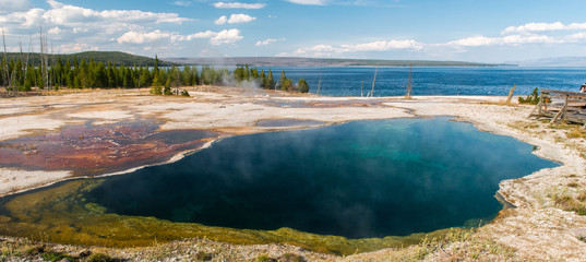 Natural hot spring, Yellowstone National Park