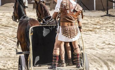 gladiator fights in the arena of the Roman circus, representatio