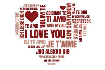 Dich Ich Verschiedene Sprachen Liebe